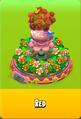 Pedestal Level 5 Pedestal Floral Pink Daisies Pink Floral Golden Daisies Orange Vase Red