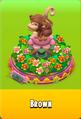 Pedestal Level 5 Pedestal Floral Pink Daisies Pink Floral Golden Daisies Orange Monkey Brown