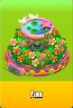Pedestal Level 5 Pedestal Floral Pink Daisies Pink Floral Golden Daisies Orange Birdbath Pink