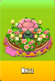 Pedestal Level 4 Pedestal Floral Pink Daisies Pink Floral Golden Tulips White