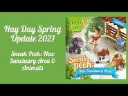 Hay Day Spring 2021 Update - Sneak Peek -1- New Sanctuary Area & Animals
