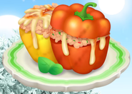 HayDay bbq grill stuffed bellpeppers