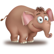 Brown Elephant Calf