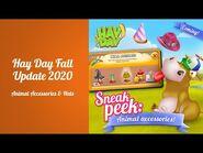 Hay Day Fall Update 2020 - Sneak Peek -3 - Animal Accessories & Hats