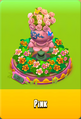 Pedestal Level 5 Pedestal Floral Pink Daisies Pink Floral Golden Daisies Orange Vase Pink