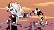 Loona and Blitz cheer