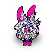 Alastor sugar skull pin