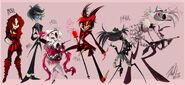 51237308567 - 01 - Vivienne Medrano's Portfolio - zoophobiacrazies Misfit Demon Gang lineup as it
