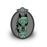 Potrait of alastor pin