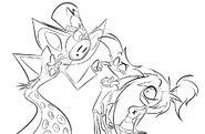 Pentious Angel Cherri sketch by Vivziepop