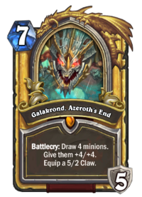 Golden Galakrond, Azeroth's End