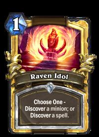 Golden Raven Idol