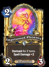 Golden Imprisoned Phoenix
