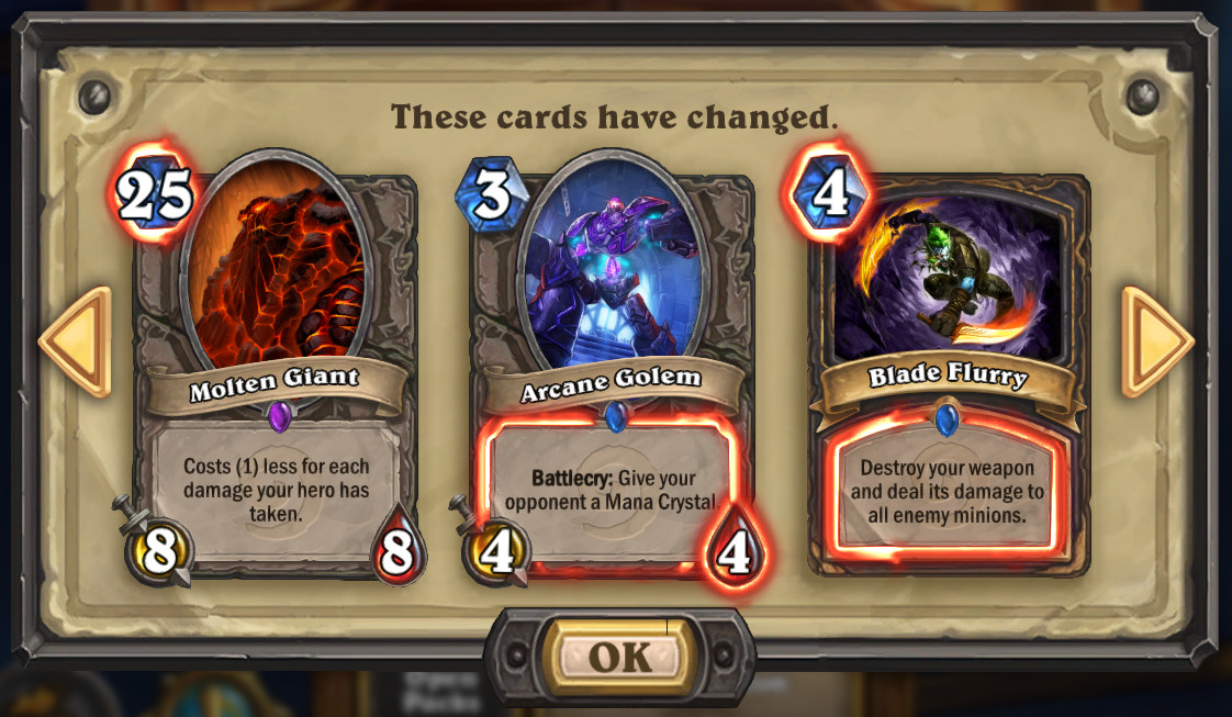 Card Changes Hearthstone Heroes Of Warcraft Wiki
