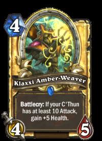 Golden Klaxxi Amber-Weaver