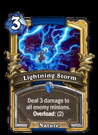 Golden Lightning Storm