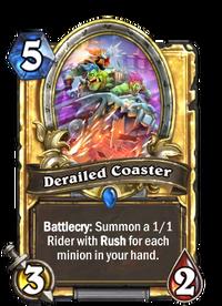 Golden Derailed Coaster