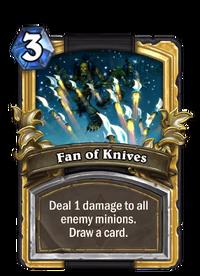 Golden Fan of Knives