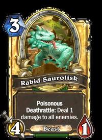 Rabid Saurolisk(90390) Gold.png
