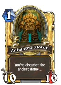Golden Animated Statue