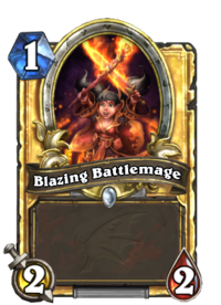 Golden Blazing Battlemage
