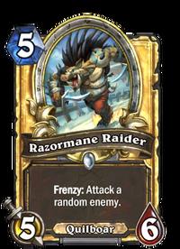 Golden Razormane Raider