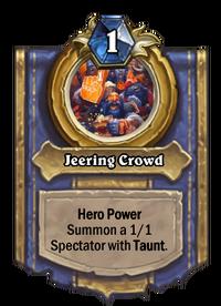 Golden Jeering Crowd