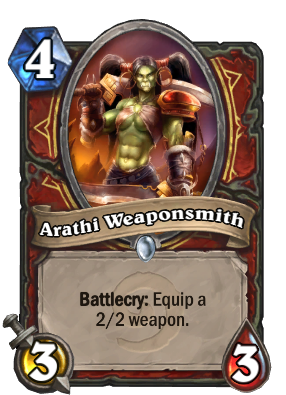 Arathi Weaponsmith Hearthstone Heroes Of Warcraft Wiki