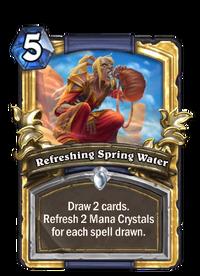 Golden Refreshing Spring Water
