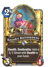 Golden Sneaky Delinquent