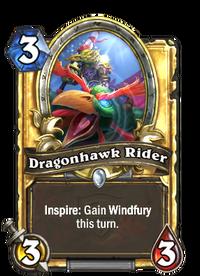 Golden Dragonhawk Rider