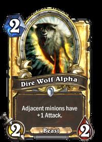 Golden Dire Wolf Alpha