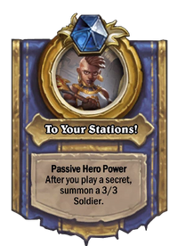 Golden To Your Stations!