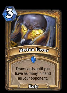 Divine Favor Hearthstone Heroes Of Warcraft Wiki