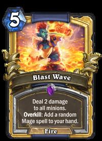 Golden Blast Wave