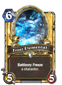 Golden Frost Elemental