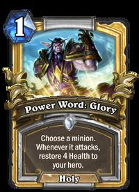 Golden Power Word: Glory