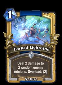 Golden Forked Lightning