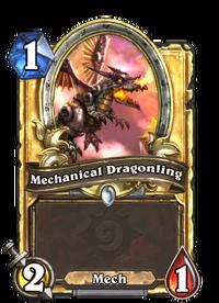 Golden Mechanical Dragonling