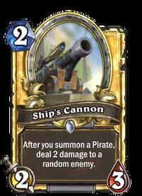 Golden Ship's Cannon