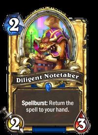 Golden Diligent Notetaker