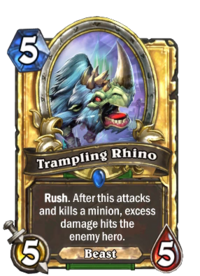 Golden Trampling Rhino