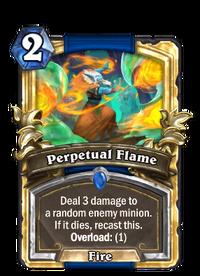 Golden Perpetual Flame