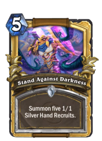 Golden Stand Against Darkness