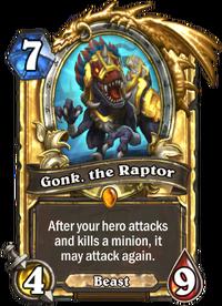 Golden Gonk, the Raptor