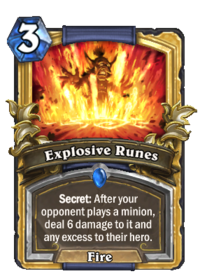 Golden Explosive Runes
