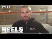 Ring Talk with Stephen Amell- Kayfabe - Heels - STARZ