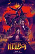 Hellboy 2019 Red Circle Poster