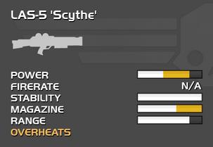 Fully upgraded LAS-5 Scythe