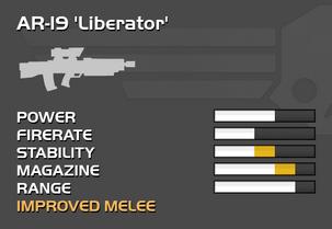 Fully upgraded AR-19 Liberator